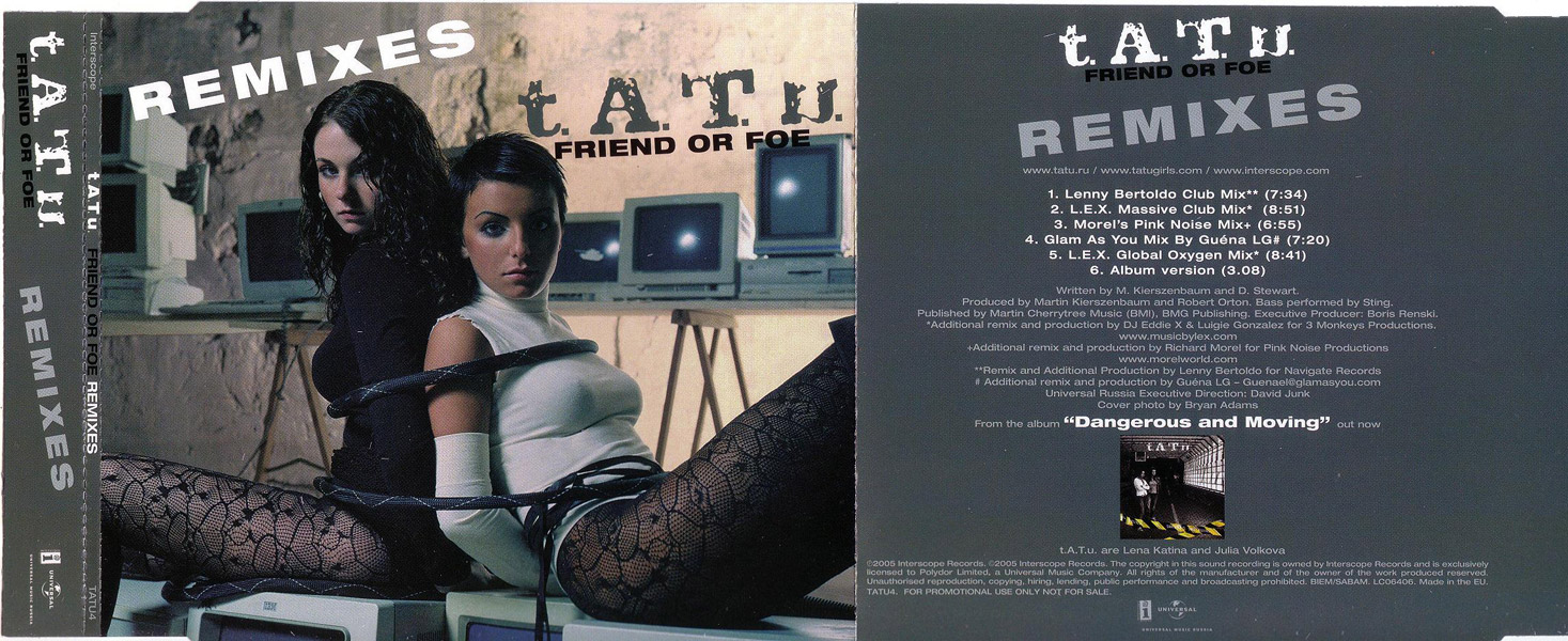 Friend or Foe - The Remixes Promo